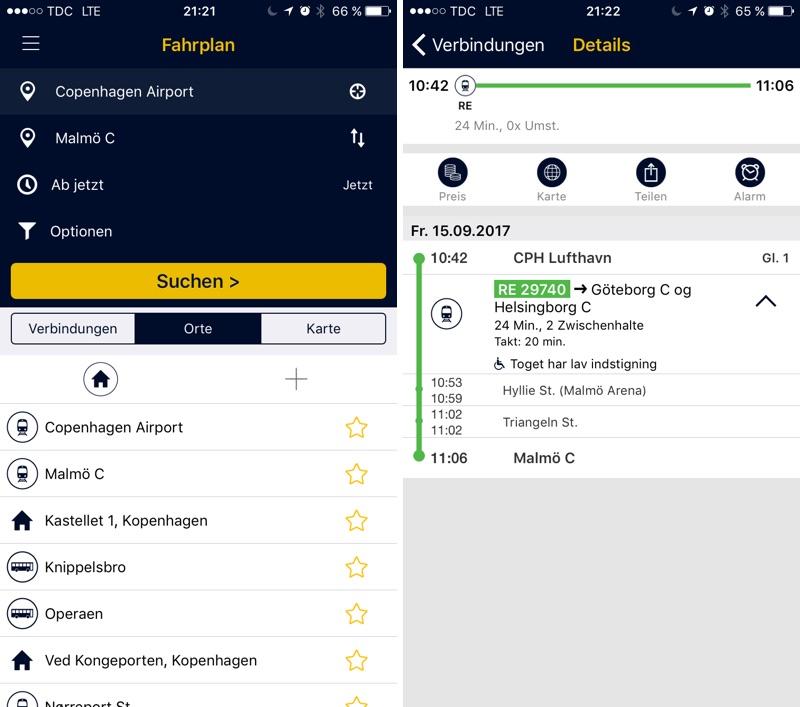 Kopenhagen Fahrplan