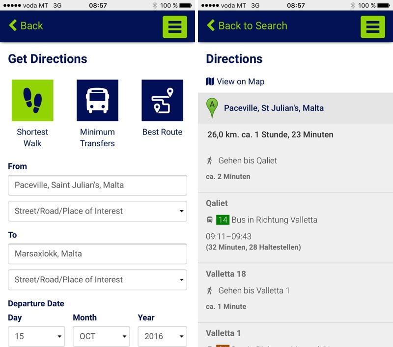 Malta Bus Tallinja Fahrplan-App
