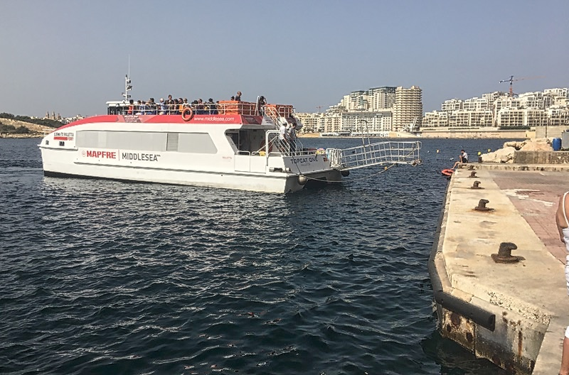 Malta Fähre zwischen Sliema & Valletta - Foto © Helmut Hackl