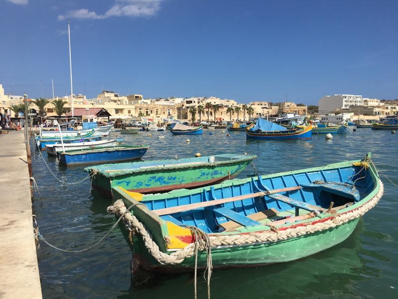 Marsaxlokk auf Malta - Foto © Helmut Hackl