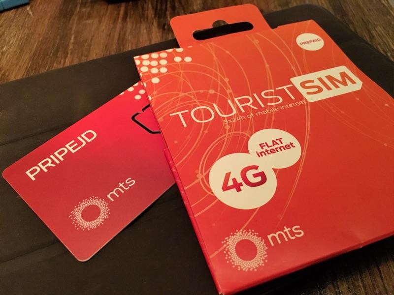 MTS Tourist SIM Serbien - Foto © Helmut Hackl