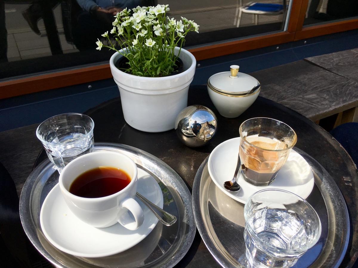 Filterkaffee & Espresso bei gangundgäbe in München - Foto © Helmut Hackl