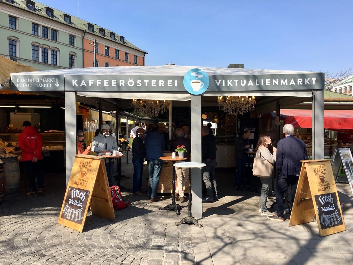 Kaffeerösterei am Viktualienmarkt in München - Foto © Helmut Hackl
