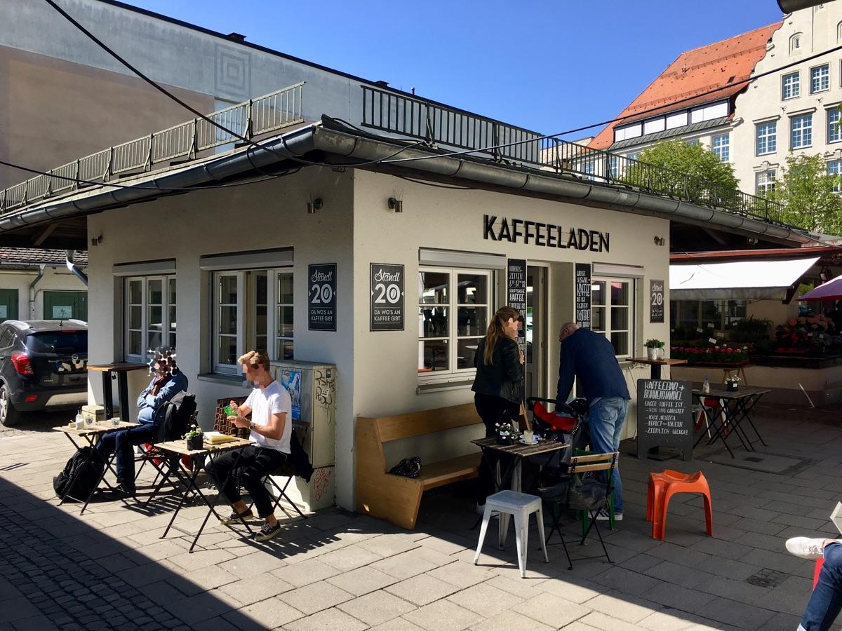 Standl 20 Kaffeeladen am Elisabethmarkt in München - Foto © Helmut Hackl