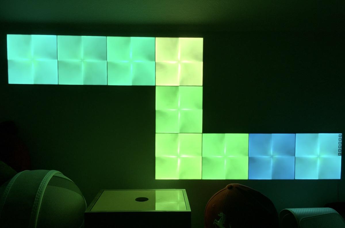 Nanoleaf Canvas LED-Lichtsystem | Foto © Helmut Hackl