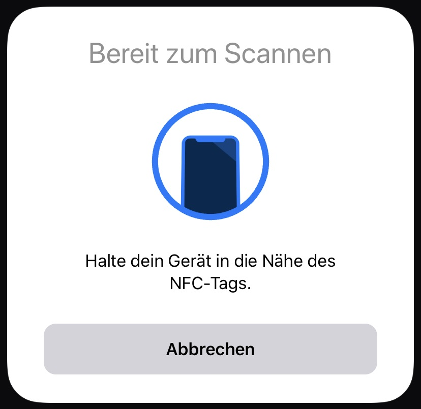 NFC Tag scannen