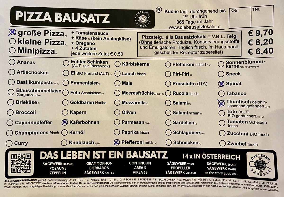 Bausatz-Pizza im Sägewerk Mahü | Foto © Helmut Hackl