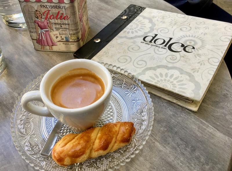 Espresso im dolce / Thessaloniki - Foto © Helmut Hackl