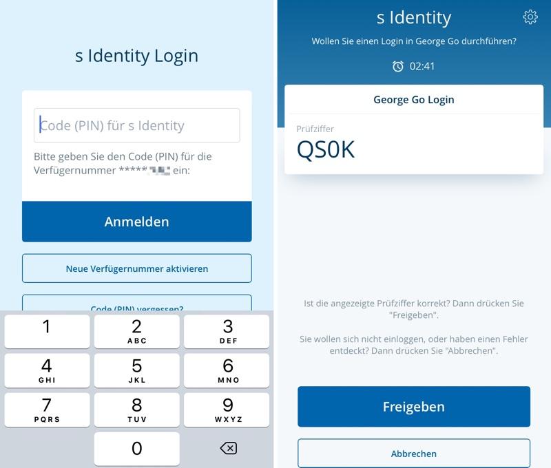 """s Identity""-App für George am iPhone"