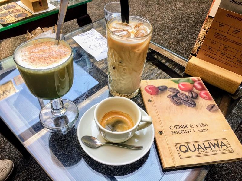 Spezialkaffee im Quahwa in Zagreb - Foto © Helmut Hackl