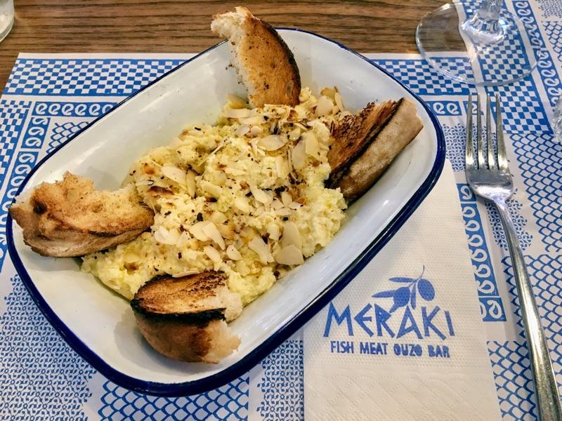Skordalia im Meraki Restaurant in Varna - Foto @ Helmut Hackl