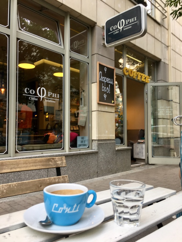 Espresso bei Cophi - Warschau | Foto © Helmut Hackl