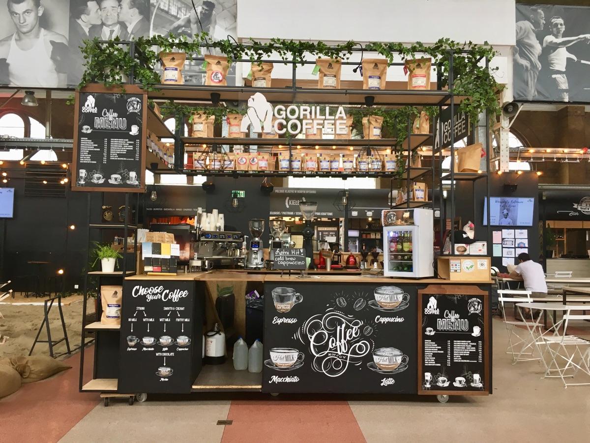 Gorilla Coffee in der Hala Gwardii - Warschau | Foto © Helmut Hackl