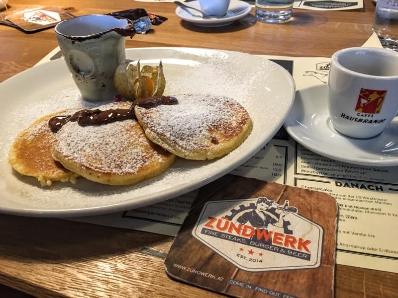 Pancakes im Zündwerk - Foto © Helmut Hackl