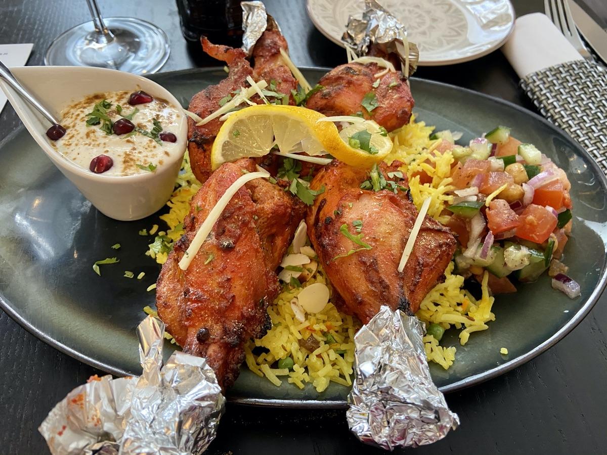 Tandoori Chicken aur Pulao im Tulsi | Foto © Helmut Hackl