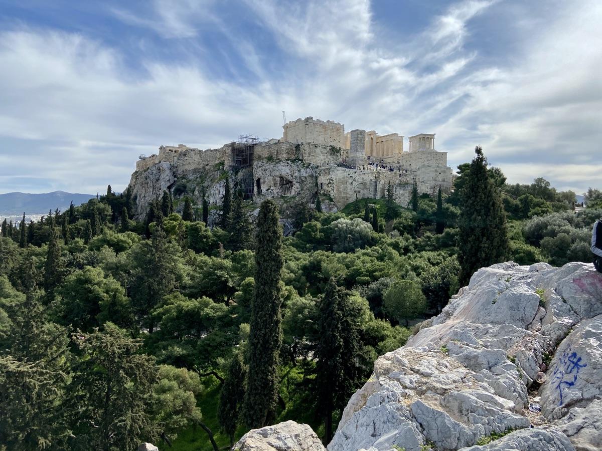 Die Akropolis vom Areopag / Athen | Foto © Helmut Hackl