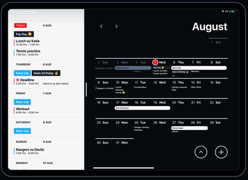 Calendar by 44 am iPad