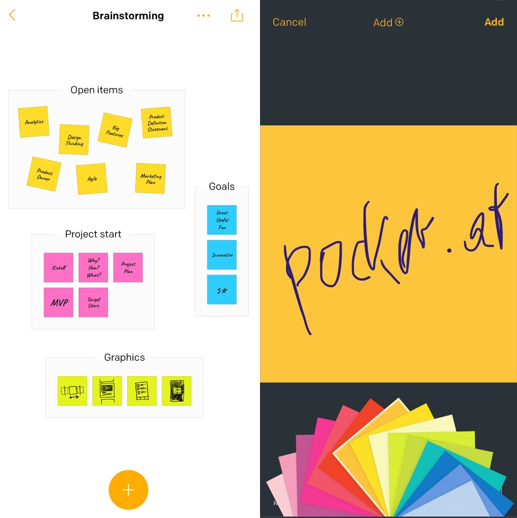 3M Post-it App am Smartphone