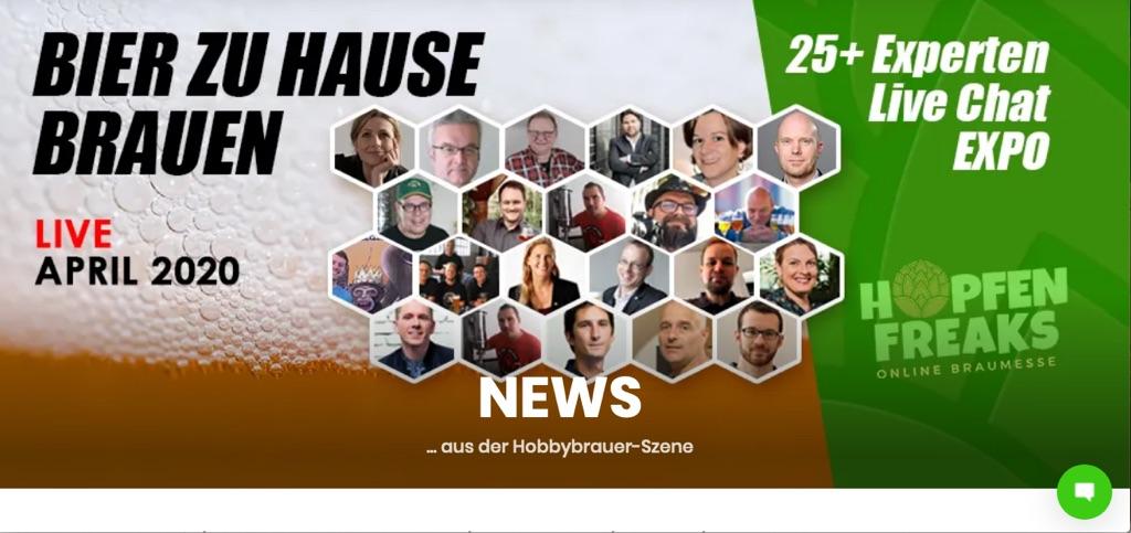 Hopfenfreaks - virtuelle Messe & Konferenz für Hobbybrauer