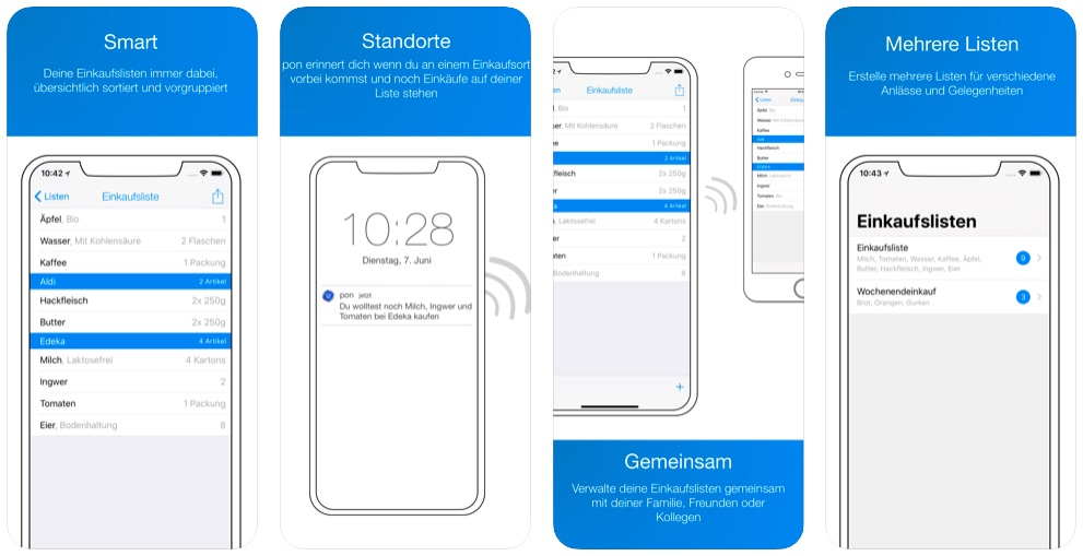Pon - smarte Einkaufsliste für iOS & Watch