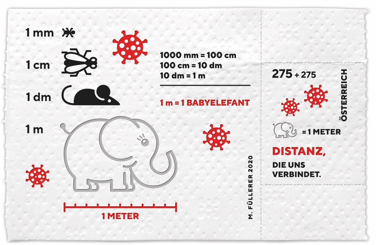 Corona-Briefmarke aus Klopapier | Foto © Österreichische Post