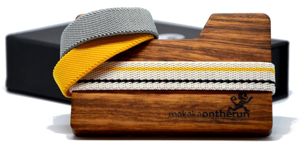 Slim Wallet aus Zebra-Holz | Foto © MakakaOnTheRun / Starterstore
