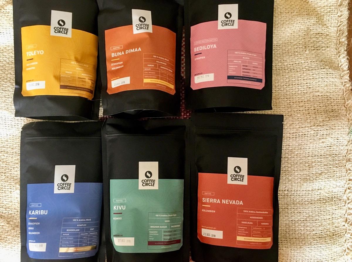 Ein paar Sorten Kaffee von Coffee Circle | Foto © Helmut Hackl