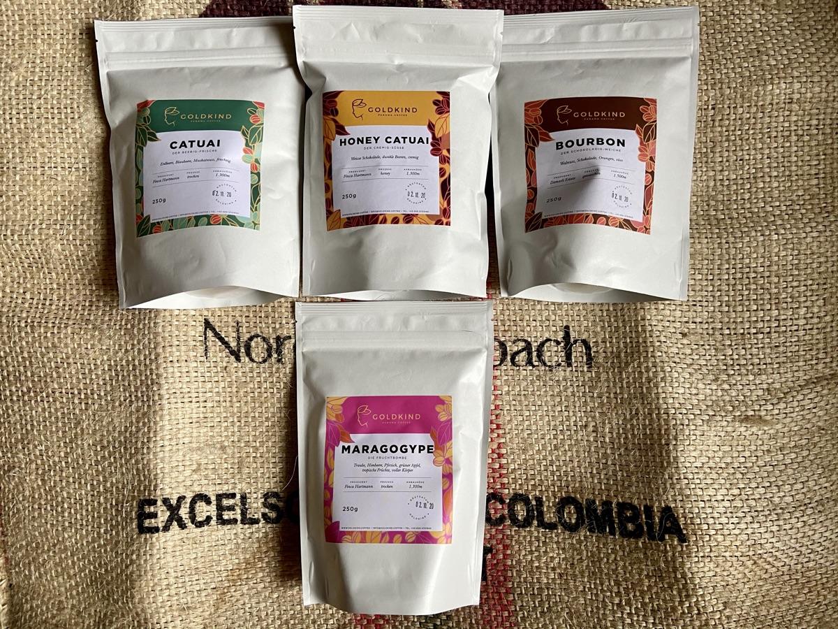 Bourbon, Catuai, Honey Catuai & Maragogype von Goldkind Panama Coffee | Foto © Helmut Hackl