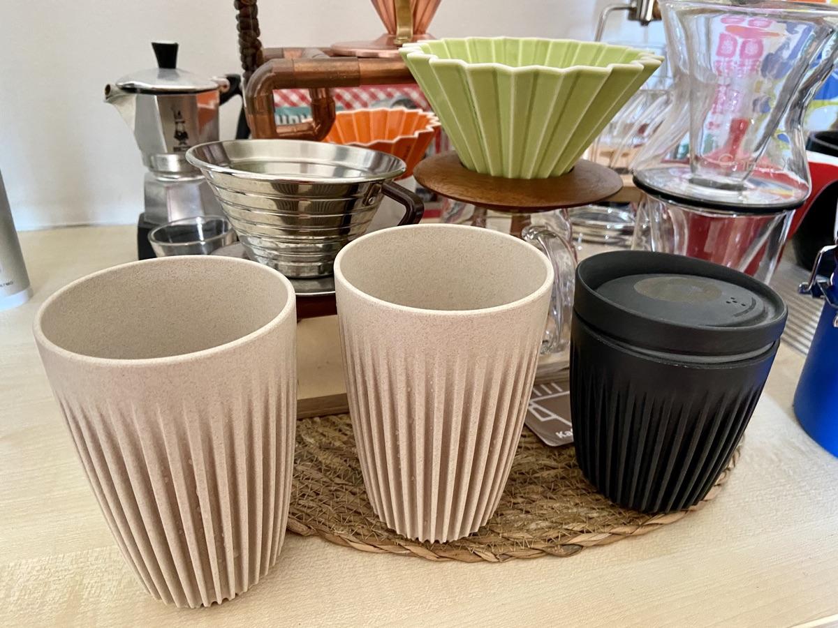 Huskee Cups - wiederverwendbare Kaffeebecher   Foto © Helmut Hackl