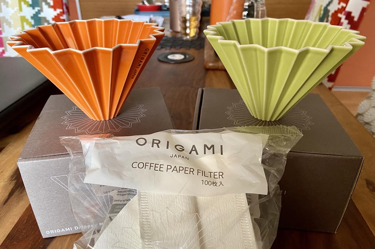 Origami Dripper aus Mino Ware | Foto © Helmut Hackl