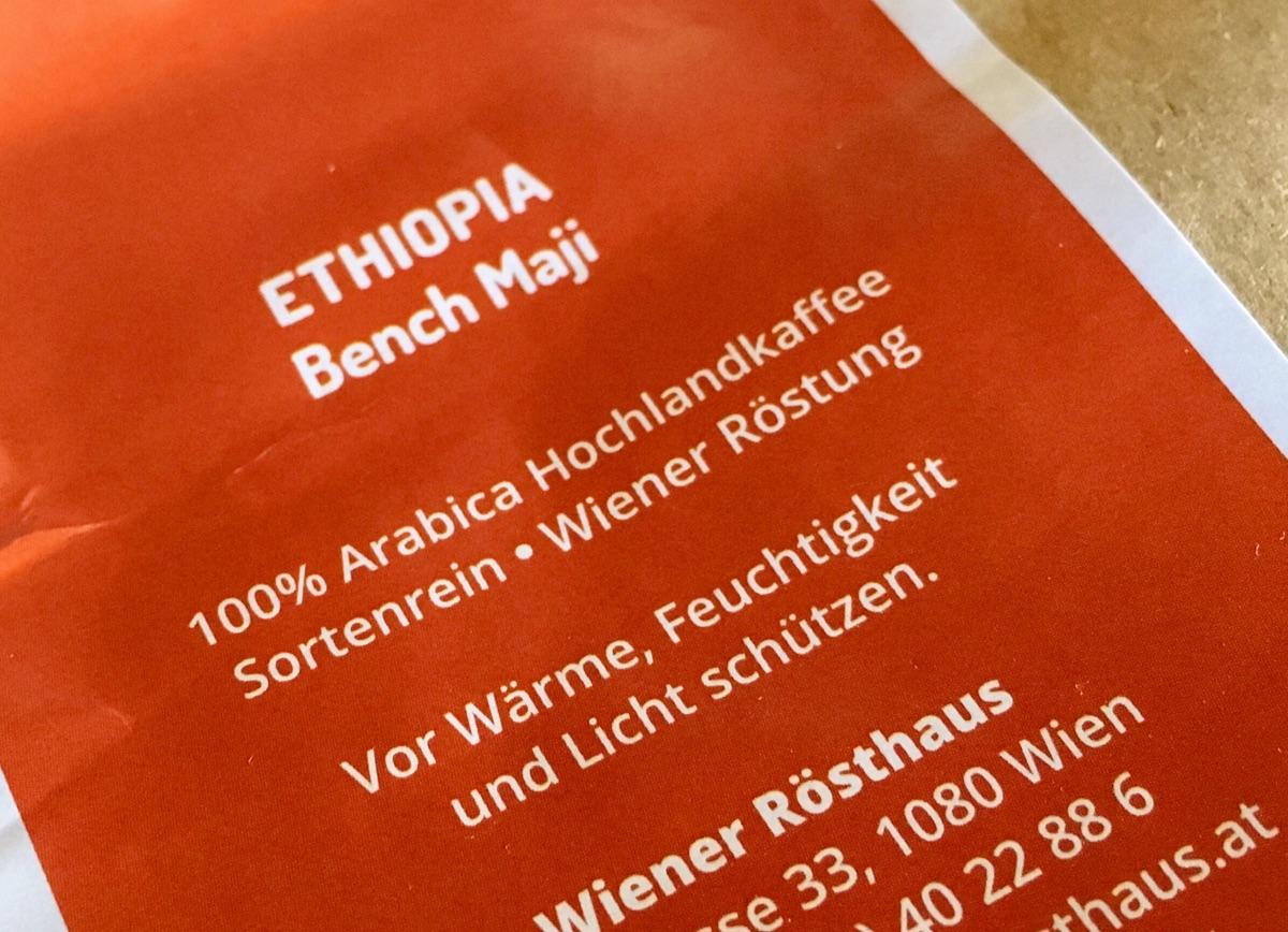 Ethiopia Bench Maji 100% Arabica sortenrein vom Wiener Rösthaus – Foto © Helmut Hackl