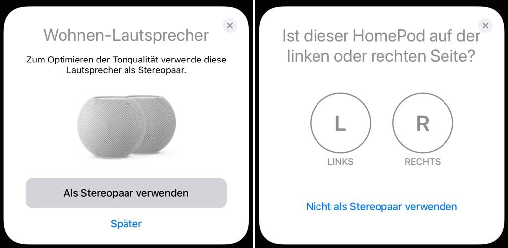 Apple HomePod mini Stereo