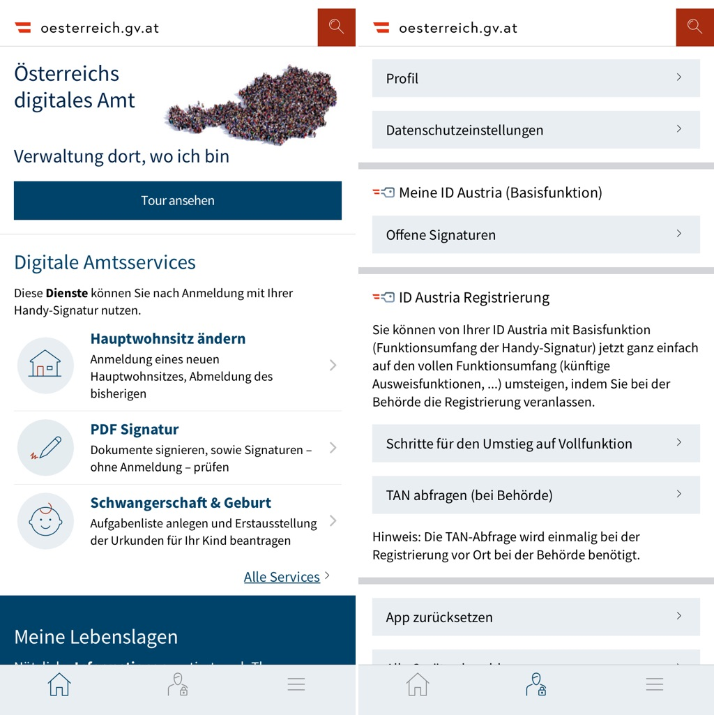 Digitales Amt - App am iPhone