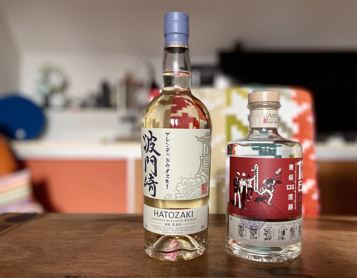 135° East Gin & Hatozaki Japanese Blended Whisky | Foto © Helmut Hackl