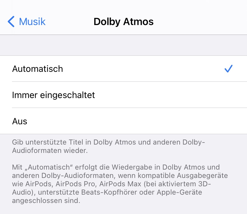 Apple Music: 3D-Audio mit Dolby Atmos
