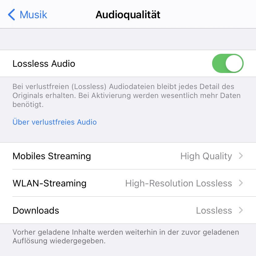 Lossless Audio in Apple Music