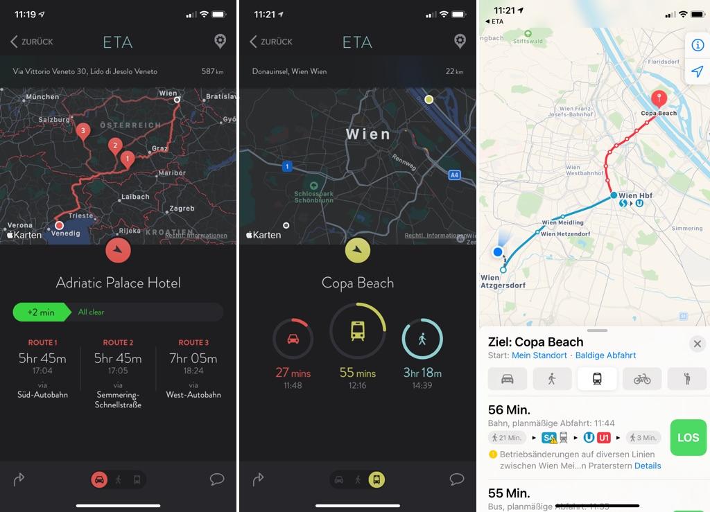 ETA - Arrive on time am iPhone