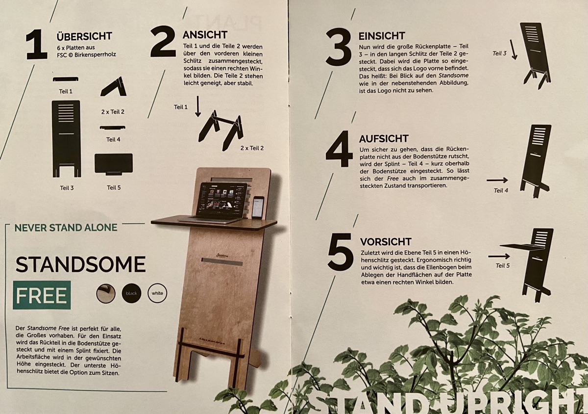 Standsome Free Crafted - steckbares Stehpult