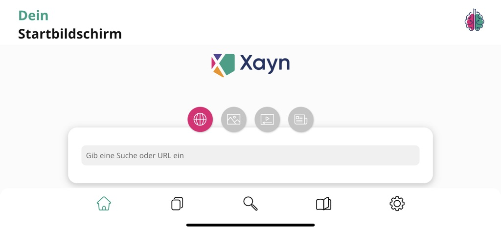 Xayn Discovery Browser am iPhone